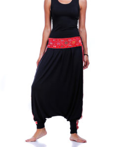 Bedouin embroidered harem pants handmade in Egypt & available at Jozee boutique