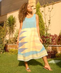 Blue Handwoven Egyptian Cotton Dress