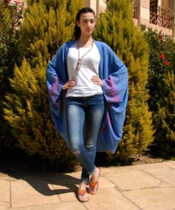 Blue Handwoven Egyptian Cotton Kimono Handmade in Egypt & available in Jozee boutique
