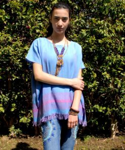 Turquoise Handwoven Egyptian Cotton Top Handmade in Egypt & available in Jozee boutique