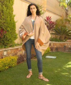 Brownish Gold Loom Woven Kimono Handmade in Egypt & available in Jozee boutique