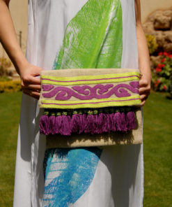 Multicolored Summer Clutch with Tassels Handmade in Egypt & available in Jozee boutique