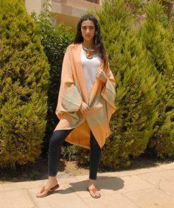 Saumon Handwoven Egyptian Cotton Kimono Handmade in Egypt & available in Jozee boutique